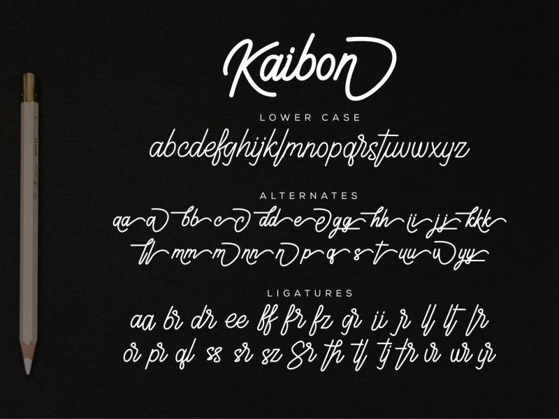 Kaibon шрифт скачать бесплатно