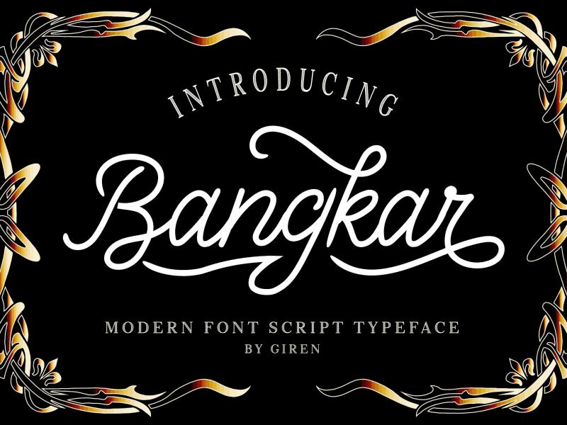 Download Bangkar font (typeface)