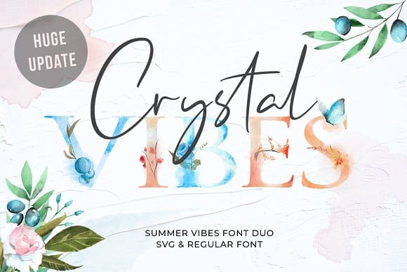 Download Crystal Vibes font (typeface)