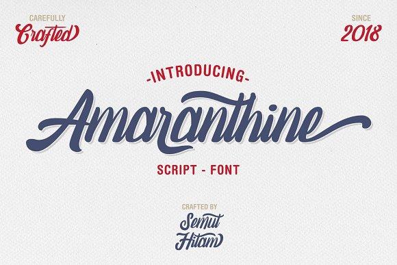 Amaranthine шрифт скачать бесплатно