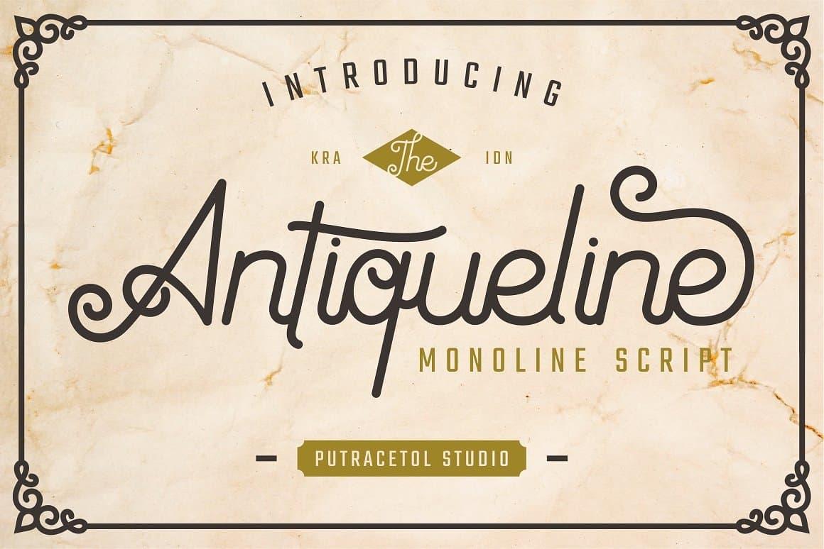Download Antiqueline font (typeface)