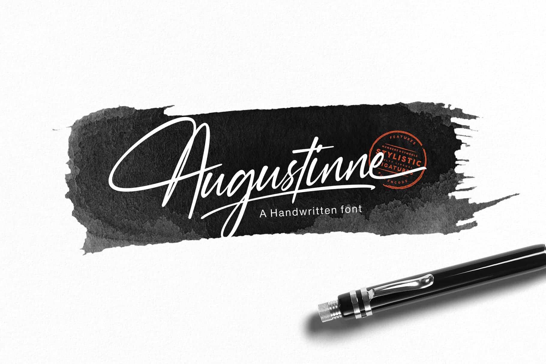 Augustinne шрифт скачать бесплатно