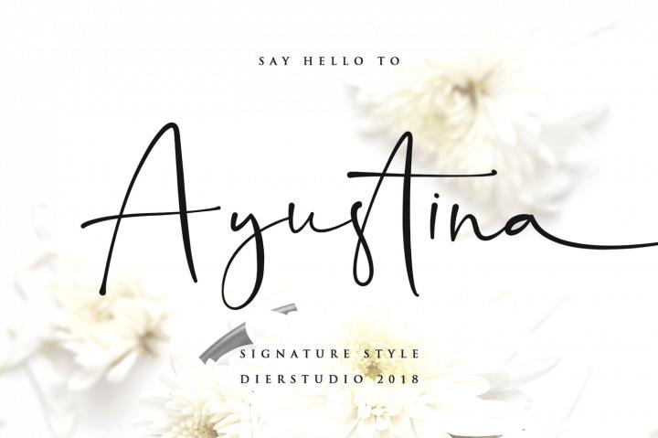 Download Ayustina font (typeface)