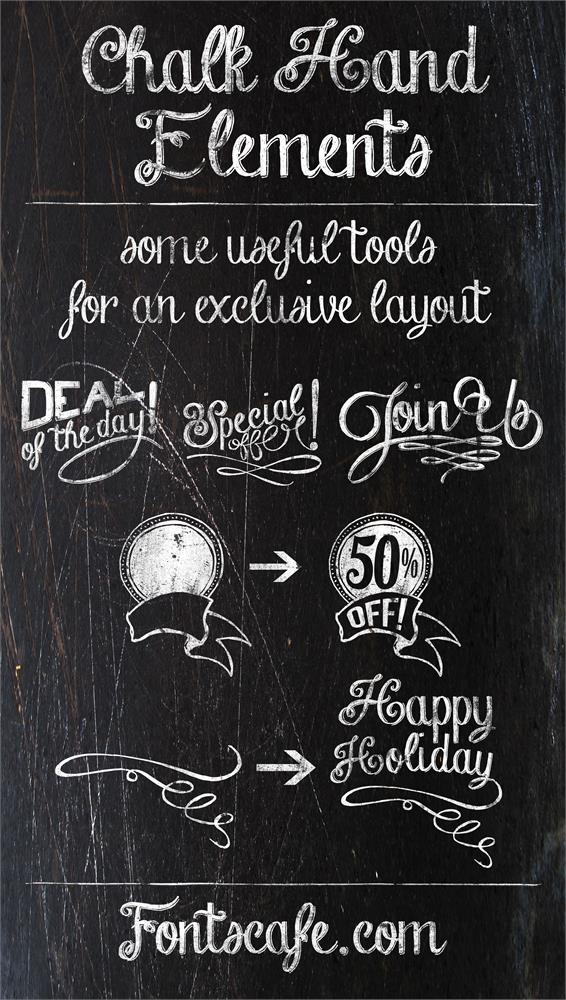 Download Chalk Hand Lettering Pack font (typeface)
