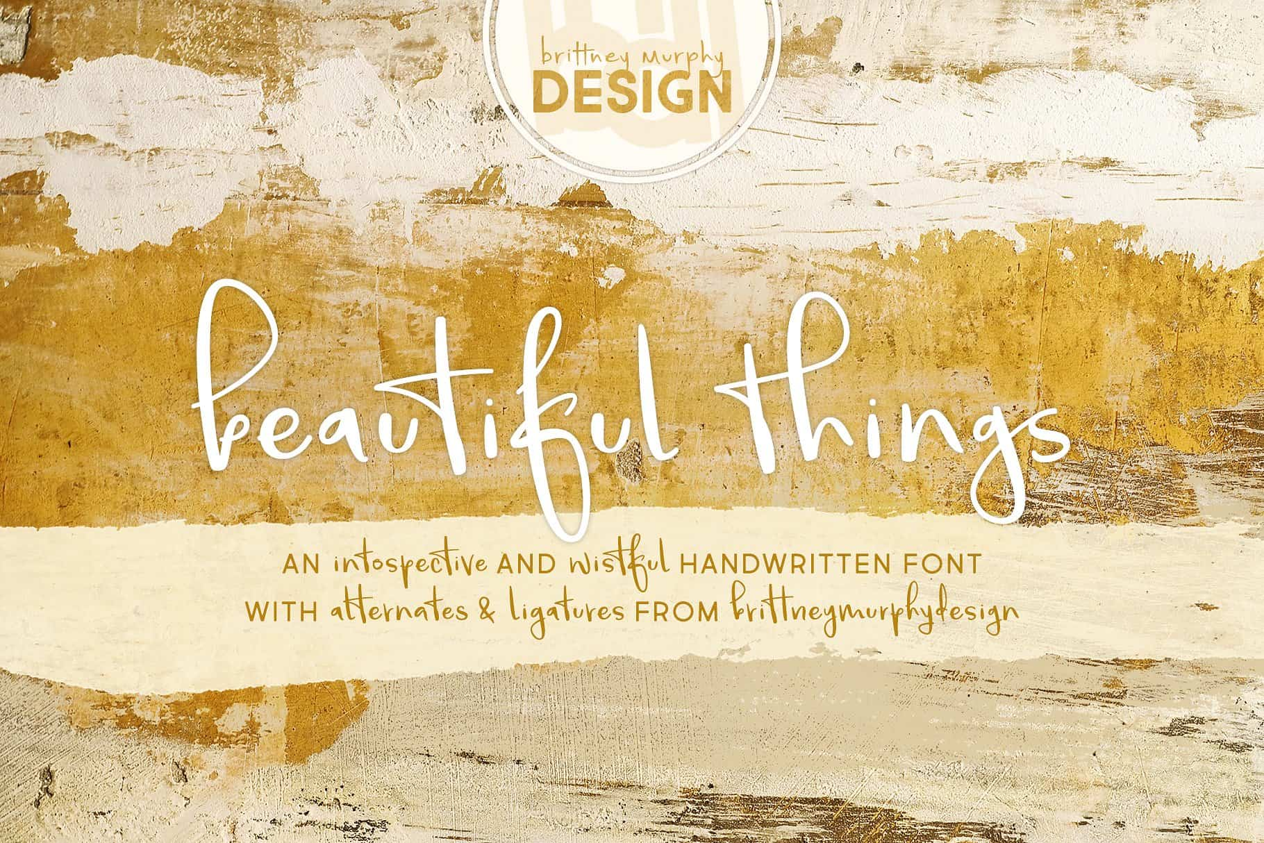 Download Beautiful Things font (typeface)