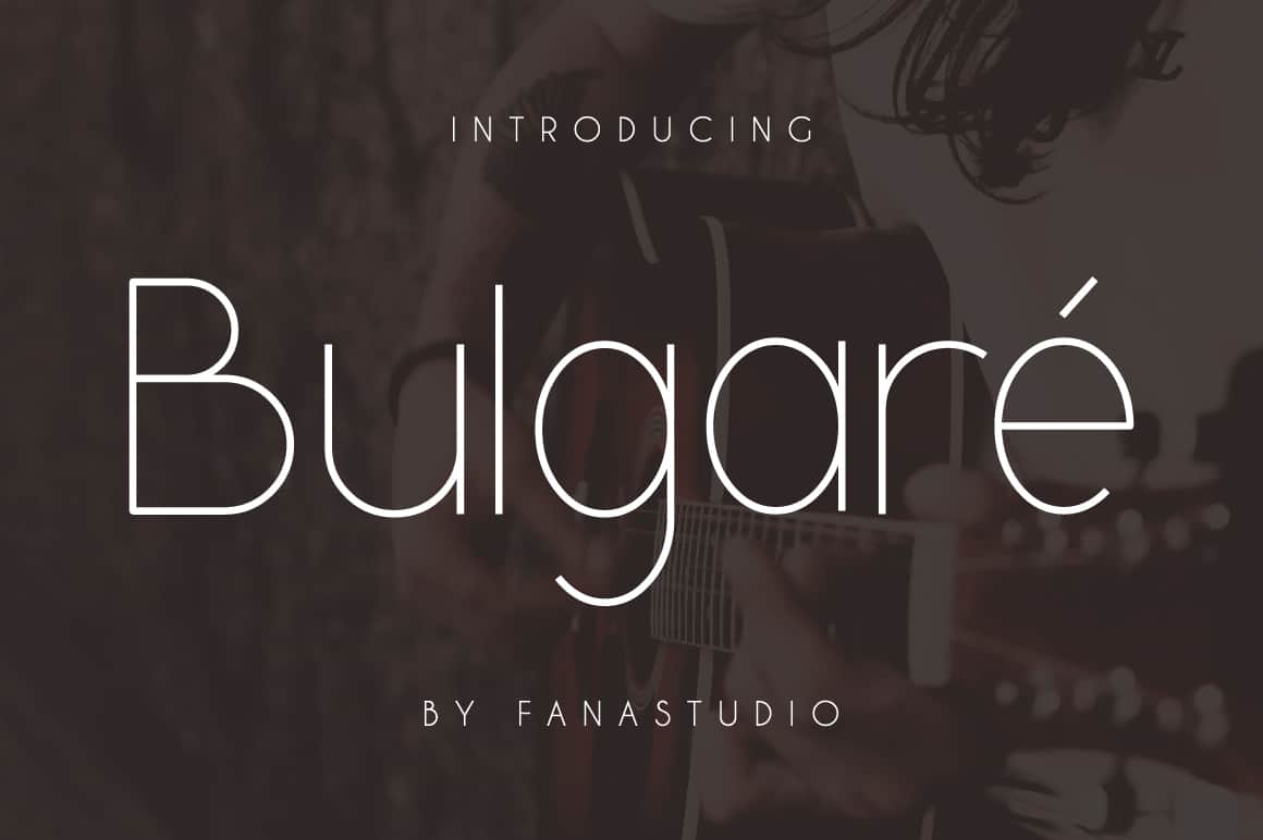 Download Bulgare font (typeface)