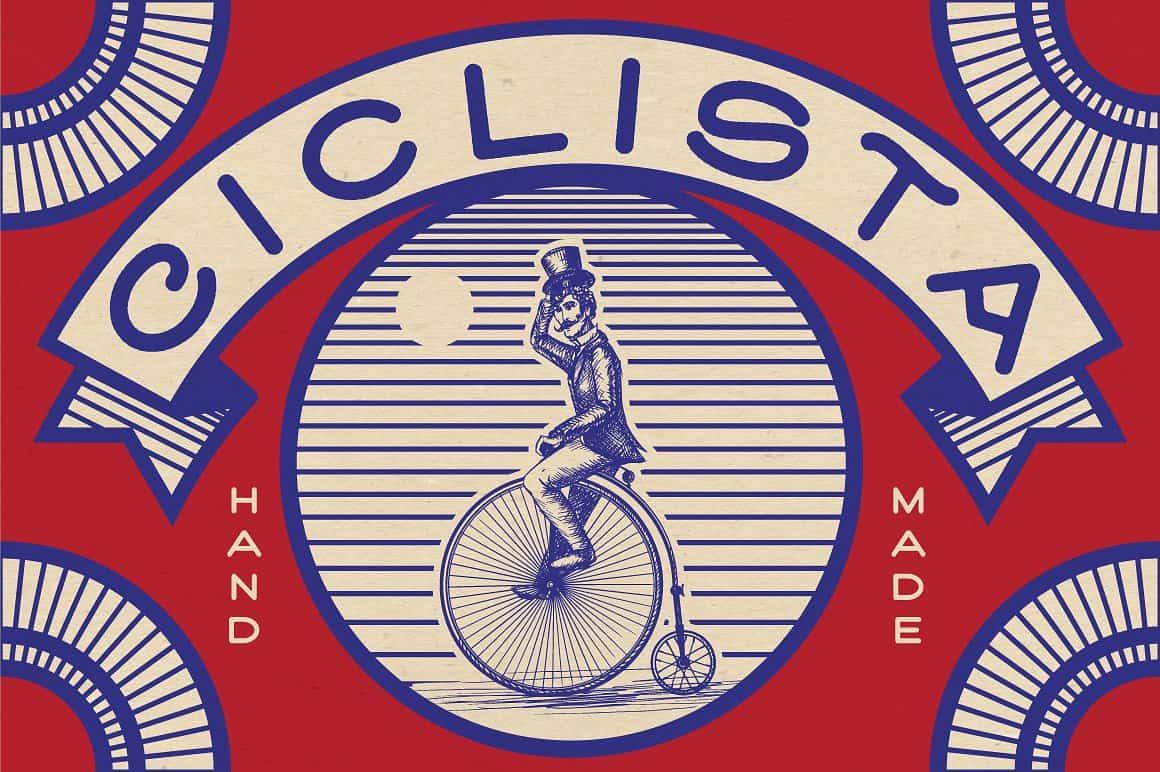 Download Ciclista font (typeface)