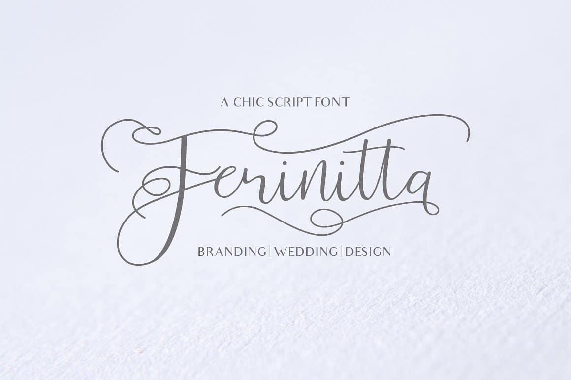 Ferinitta шрифт скачать бесплатно