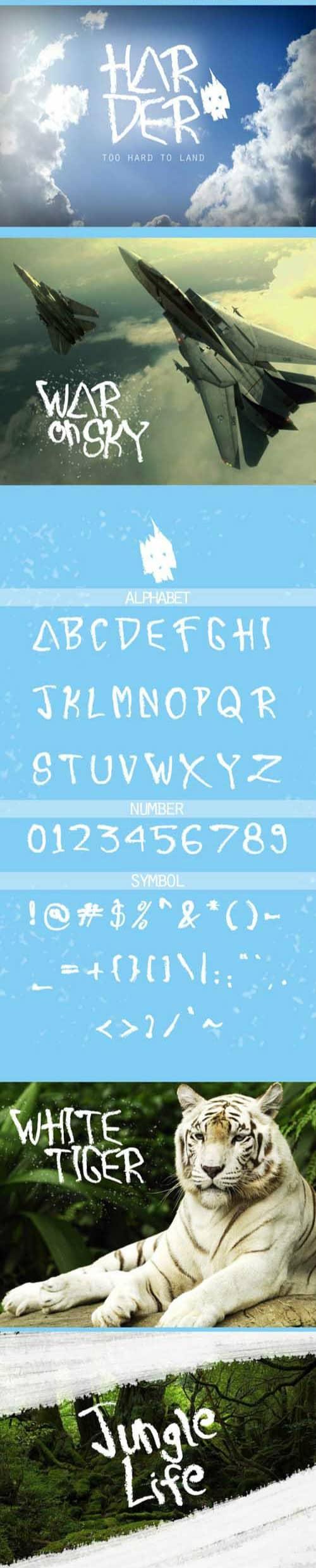 Harder шрифт скачать бесплатно