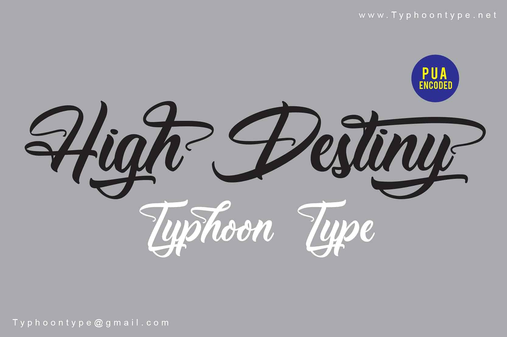 Download High Destiny font (typeface)