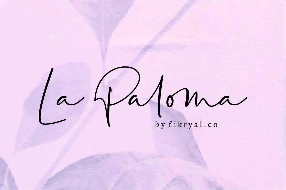 La Paloma шрифт скачать бесплатно