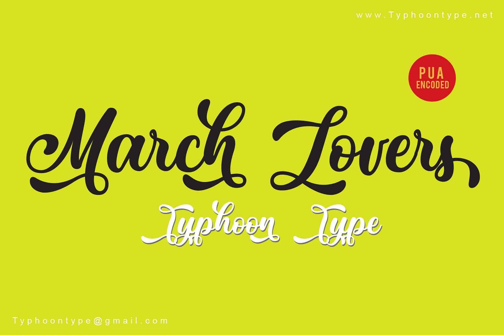 Download March Lovers font (typeface)