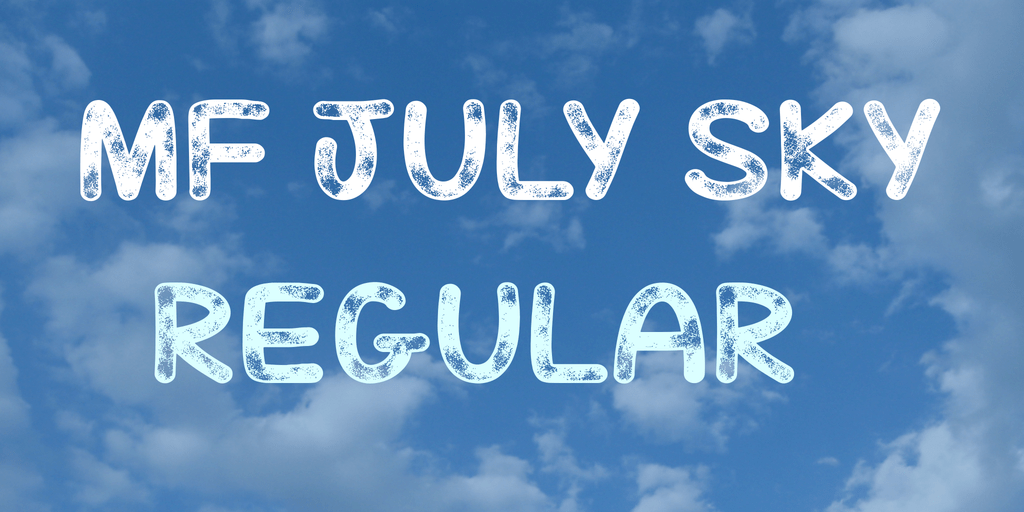 Mf July Sky шрифт скачать бесплатно
