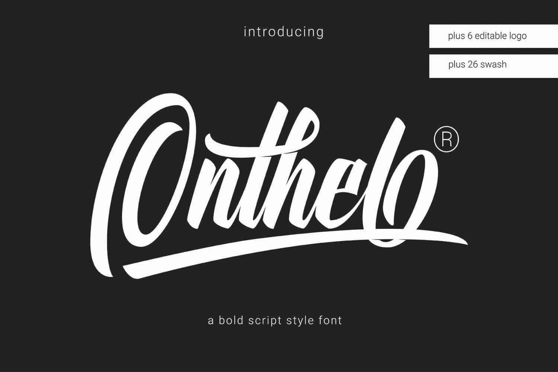 Onthel шрифт скачать бесплатно