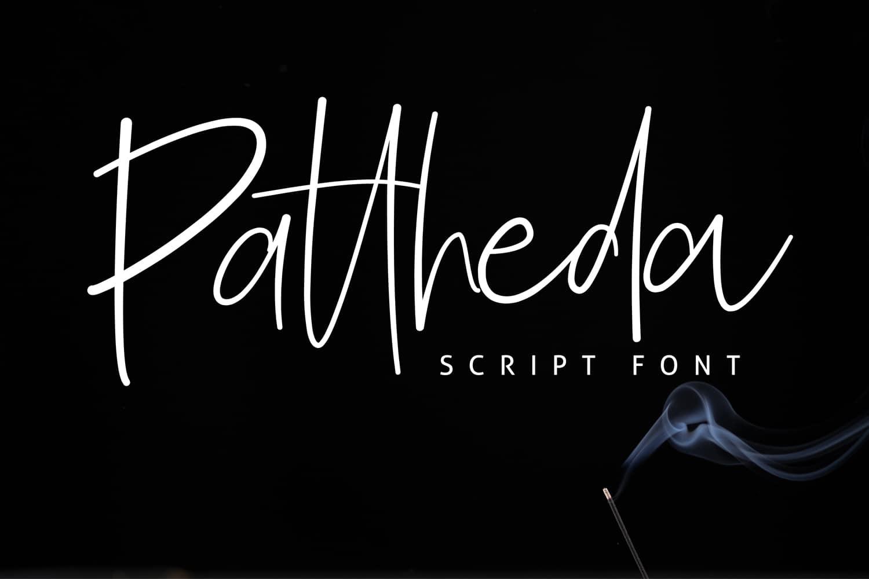 Download Pattheda font (typeface)
