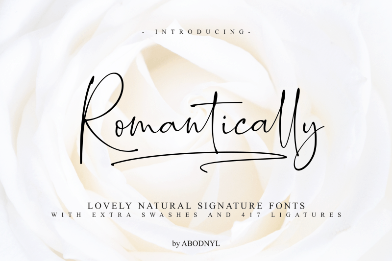 Download Romantically font (typeface)