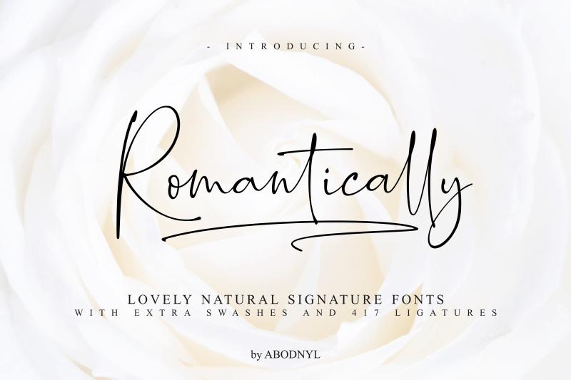 Romantically шрифт скачать бесплатно