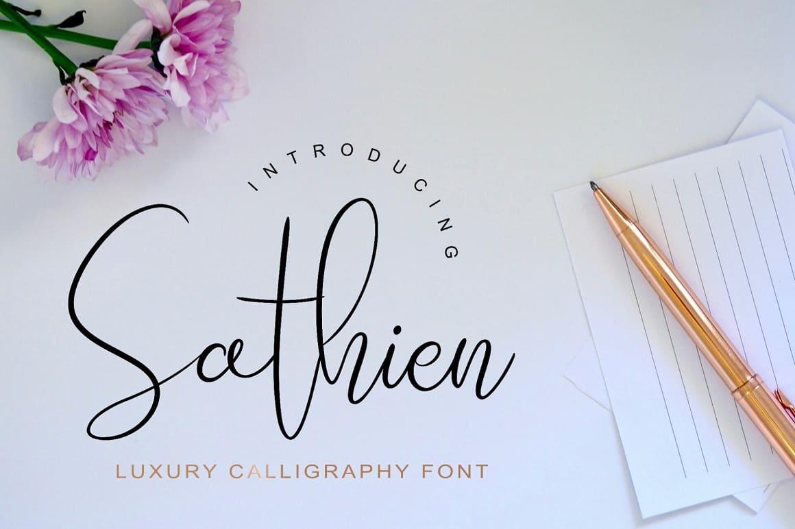 Download Sathien Luxurious font (typeface)