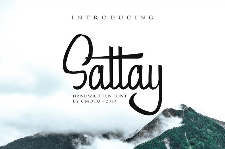 Sattay шрифт скачать бесплатно