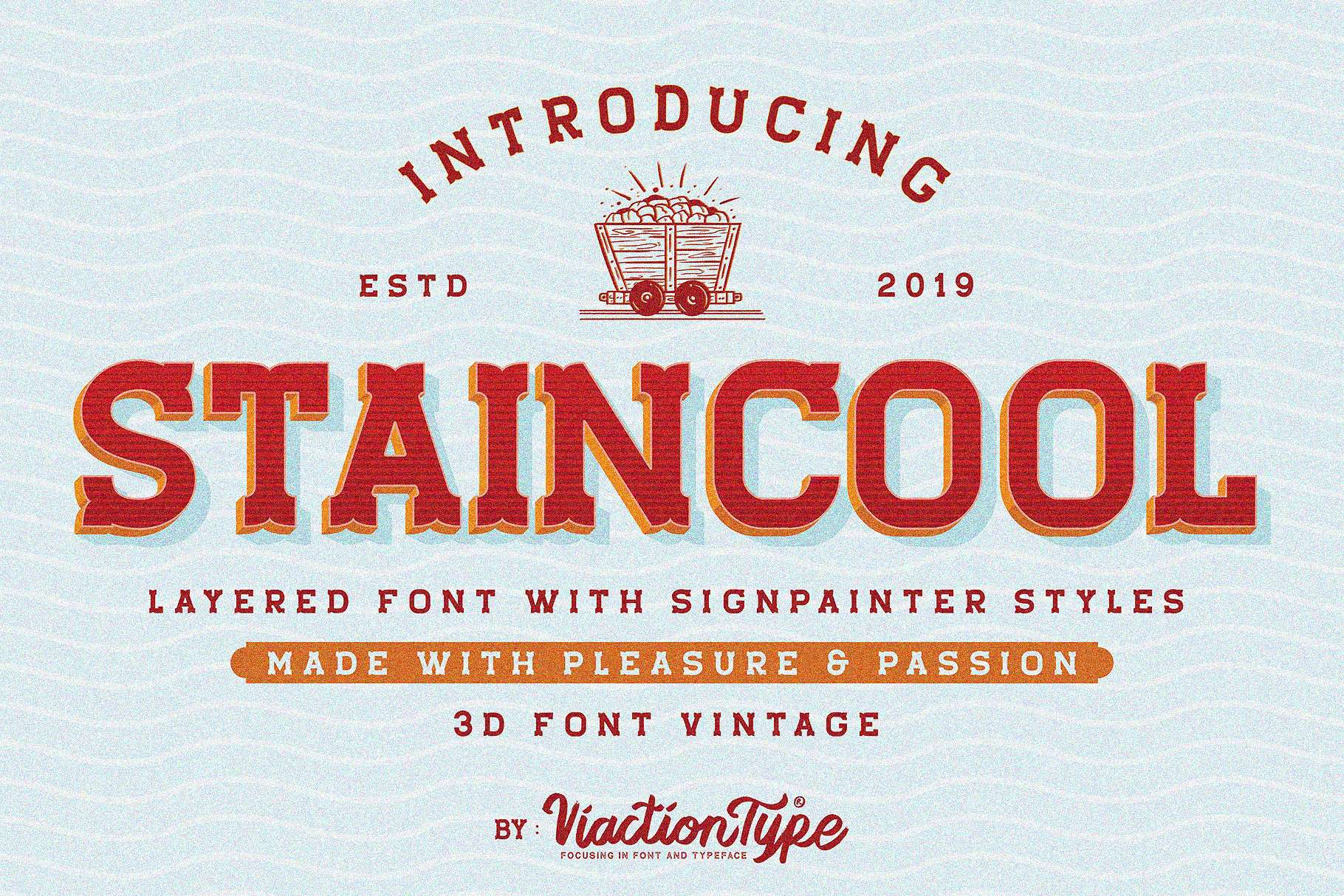 Download Staincool Layered font (typeface)
