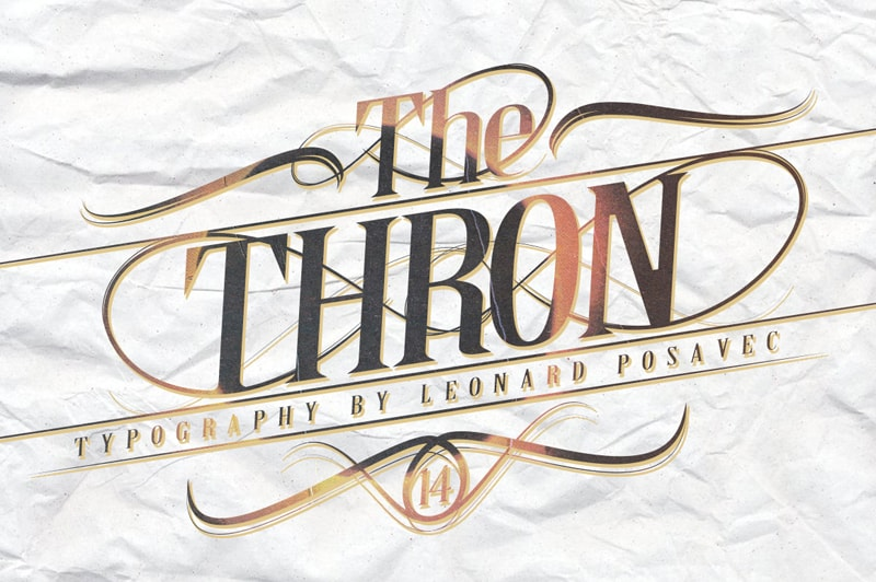 Download Thron font (typeface)