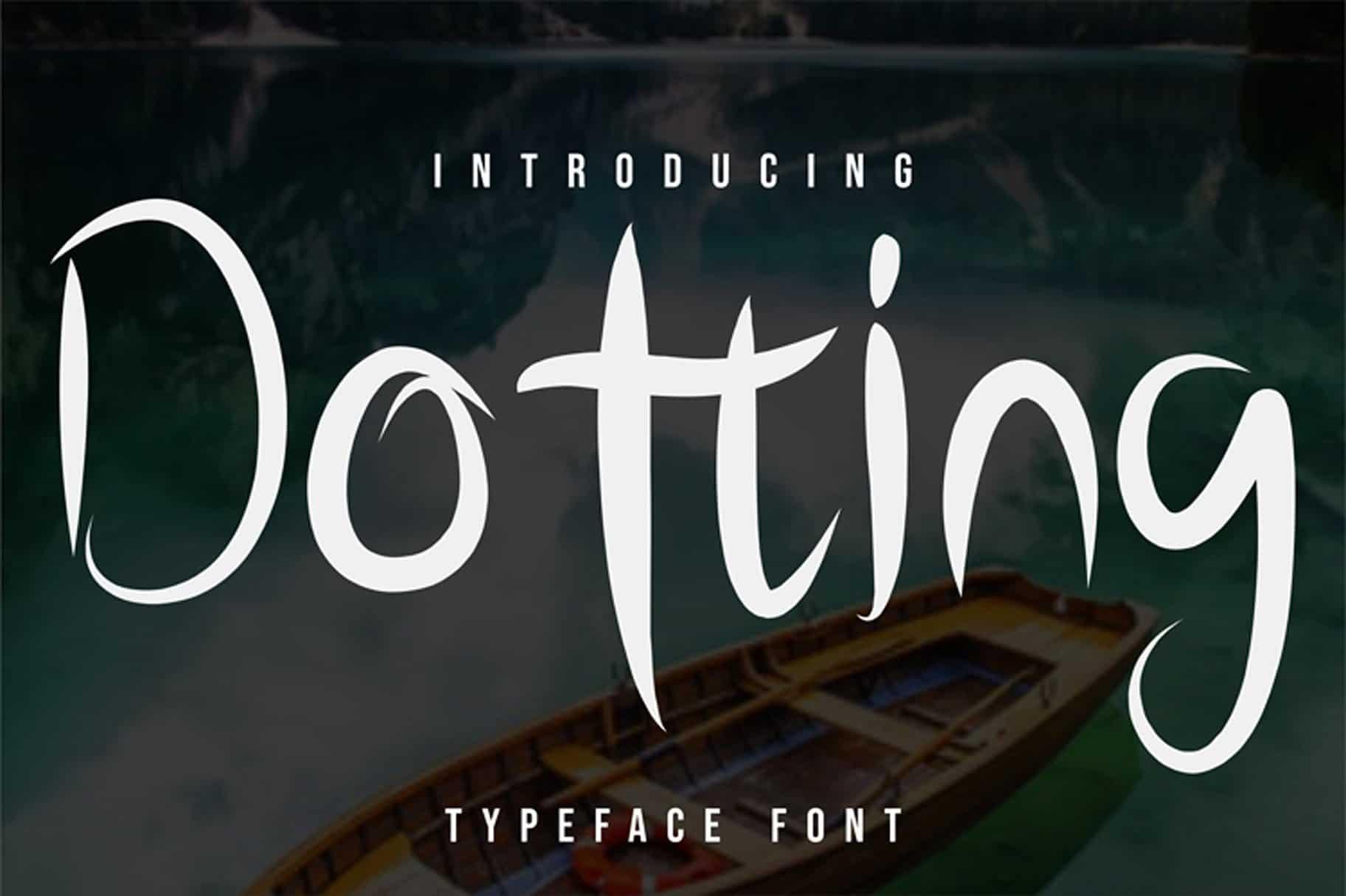 Dotting шрифт скачать бесплатно