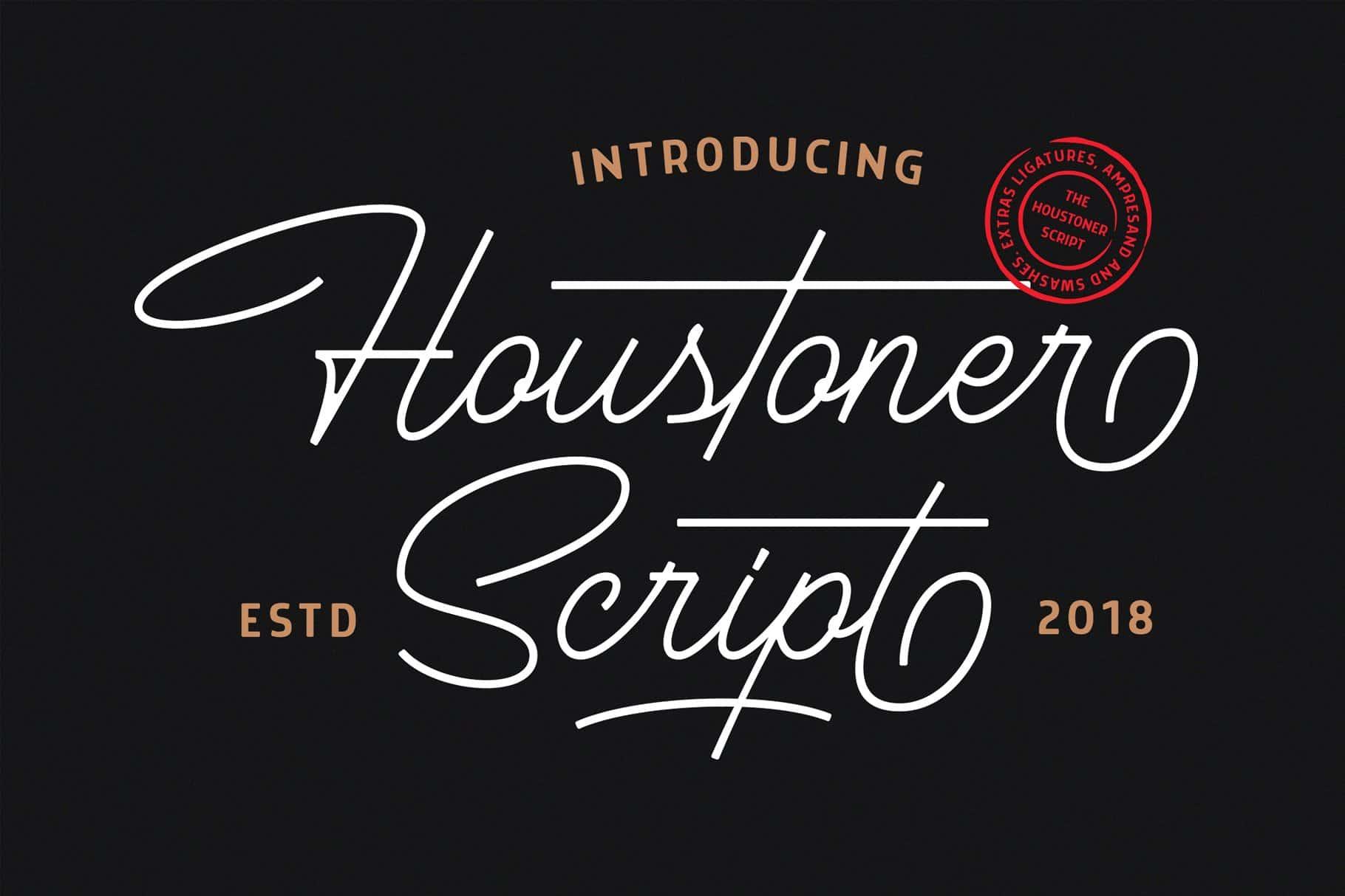 Houstoner шрифт скачать бесплатно
