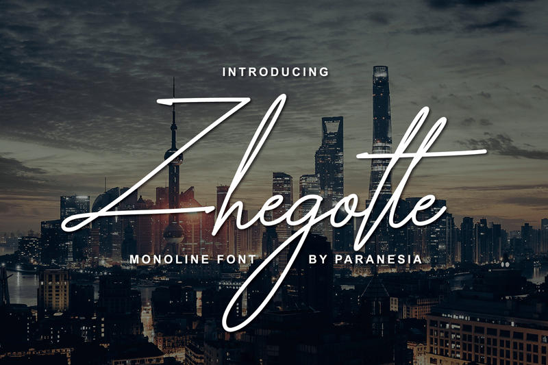 Download Zhegotte font (typeface)