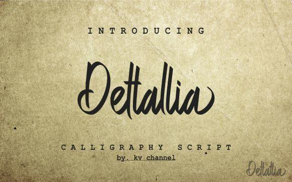 Download Dettallia font (typeface)