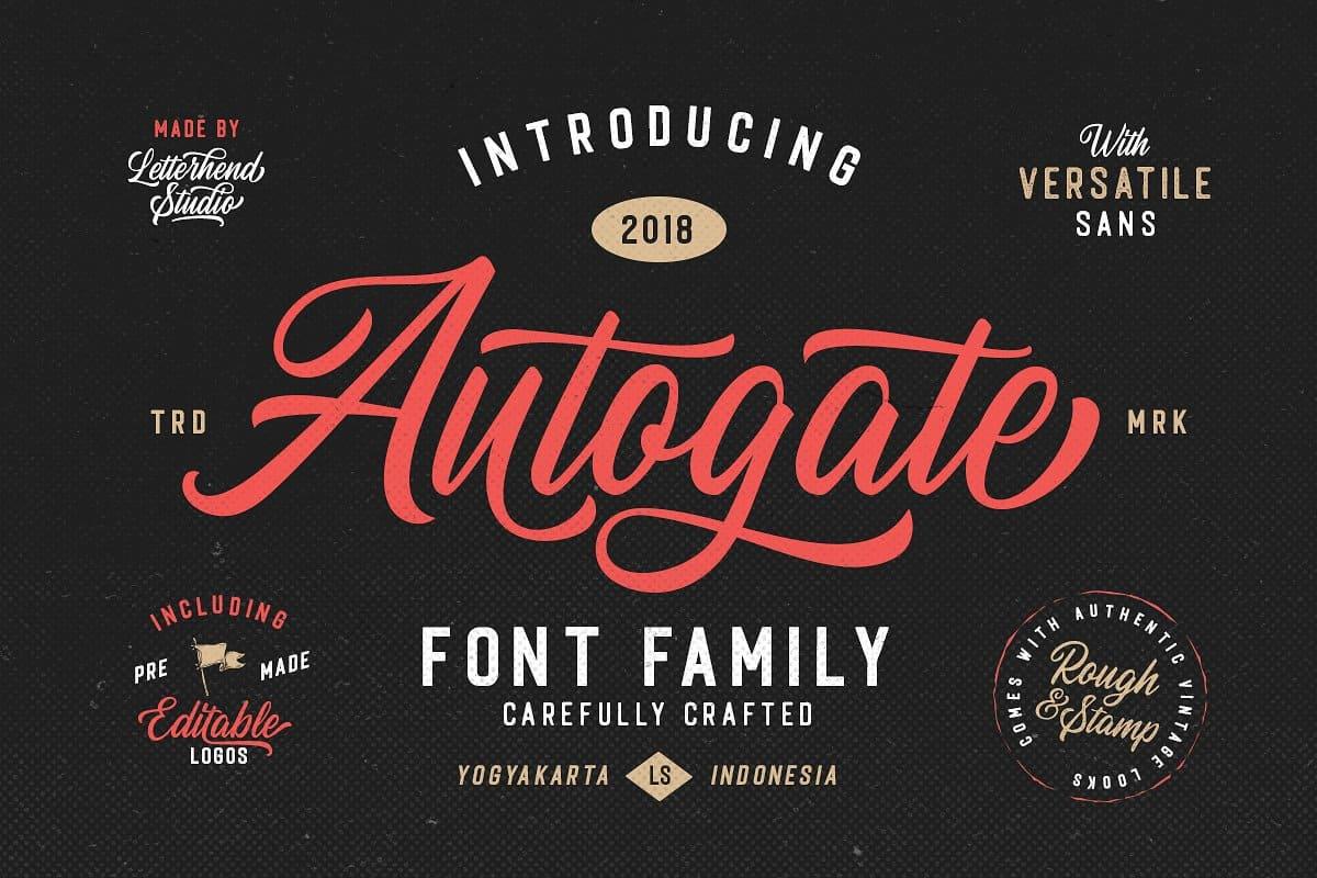 Autogate шрифт скачать бесплатно