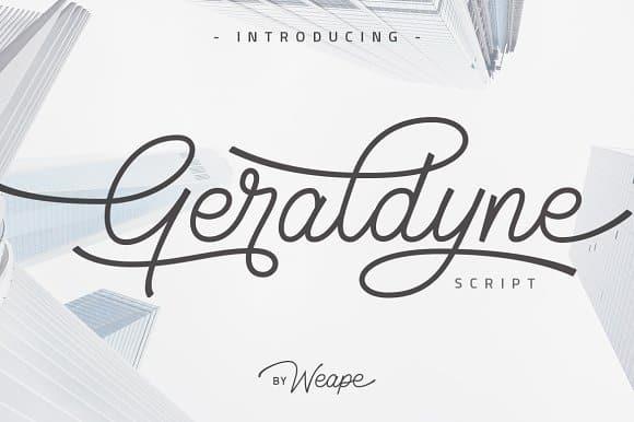 Download Geraldyne font (typeface)