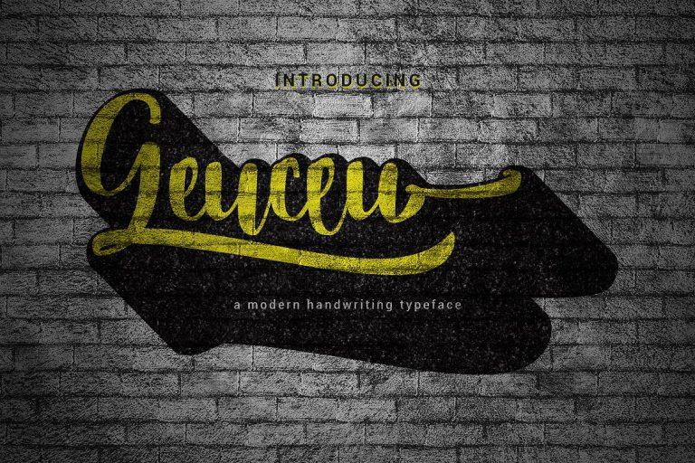 Download Geuceu font (typeface)