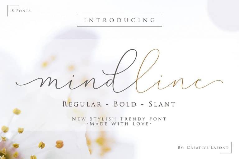 Download Mindline font (typeface)