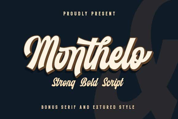 Download Monthelo font (typeface)