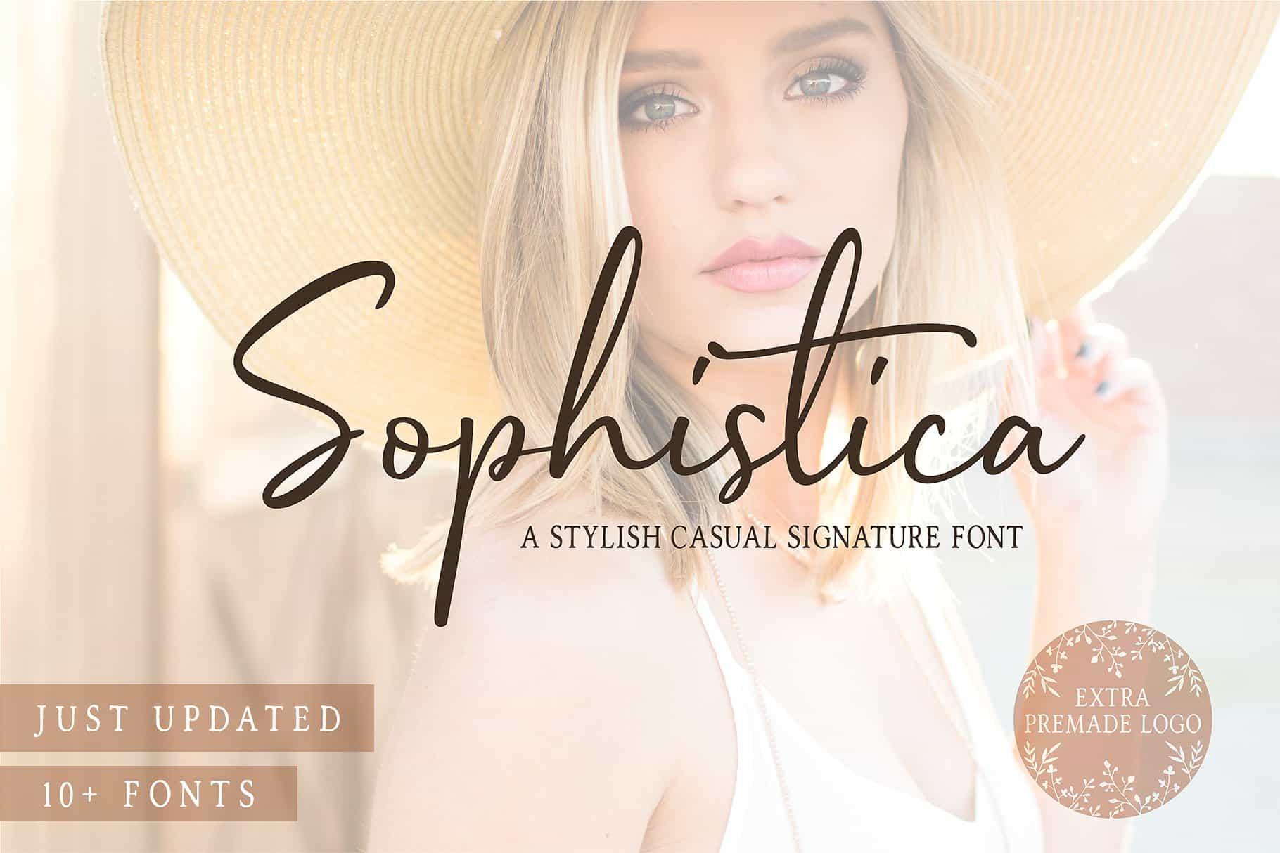 Download Sophistica font (typeface)