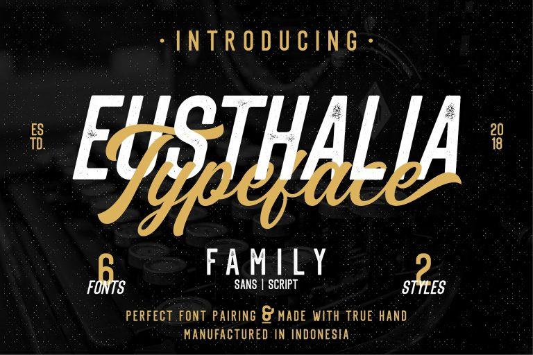Download Eusthlia font (typeface)
