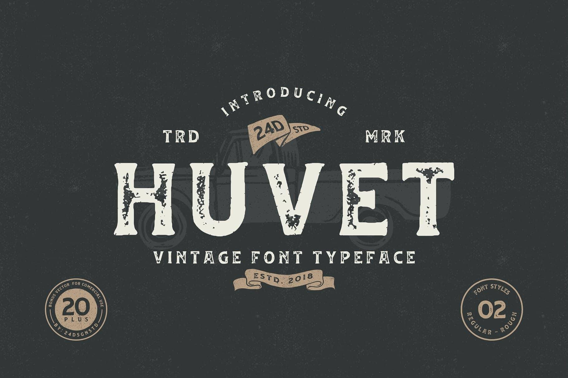 Download Huvet font (typeface)