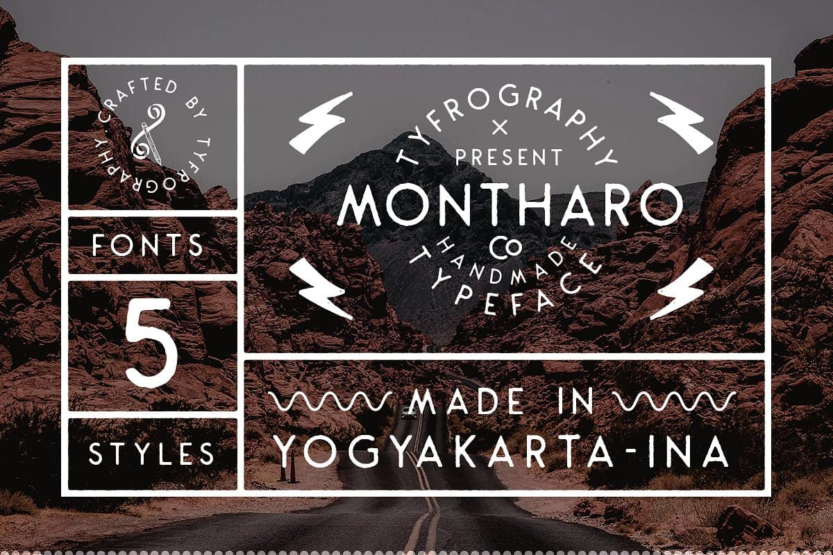 Download Montharo font (typeface)