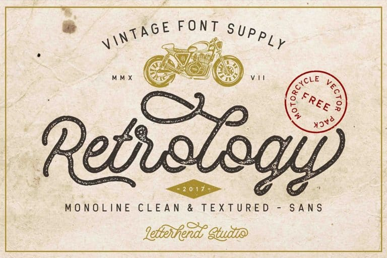Download Retrology font (typeface)