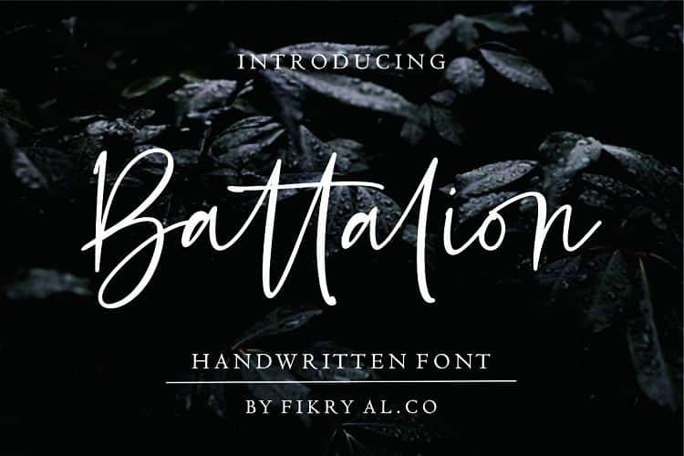 Download Battalion font (typeface)