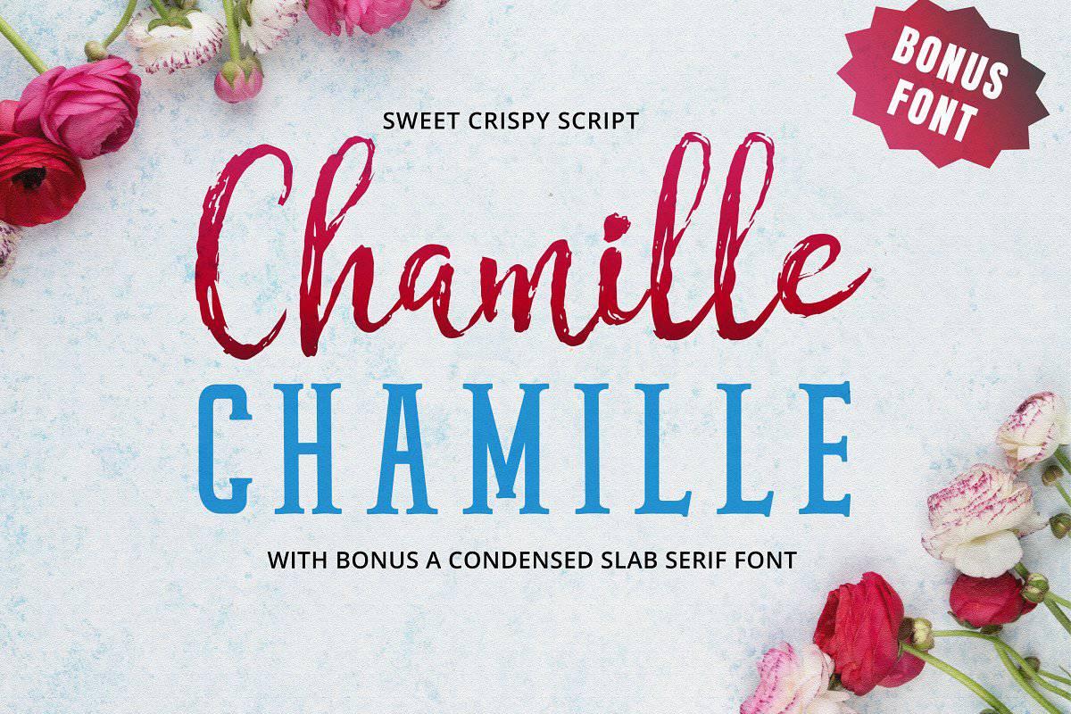 Chamille шрифт скачать бесплатно