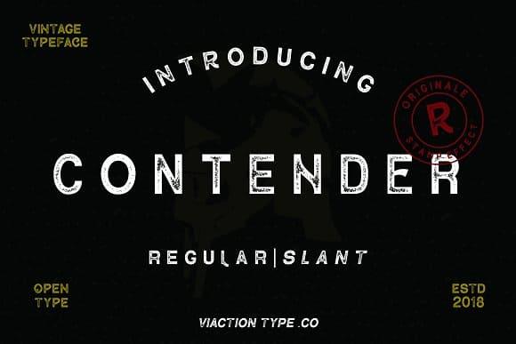 Download Contender font (typeface)