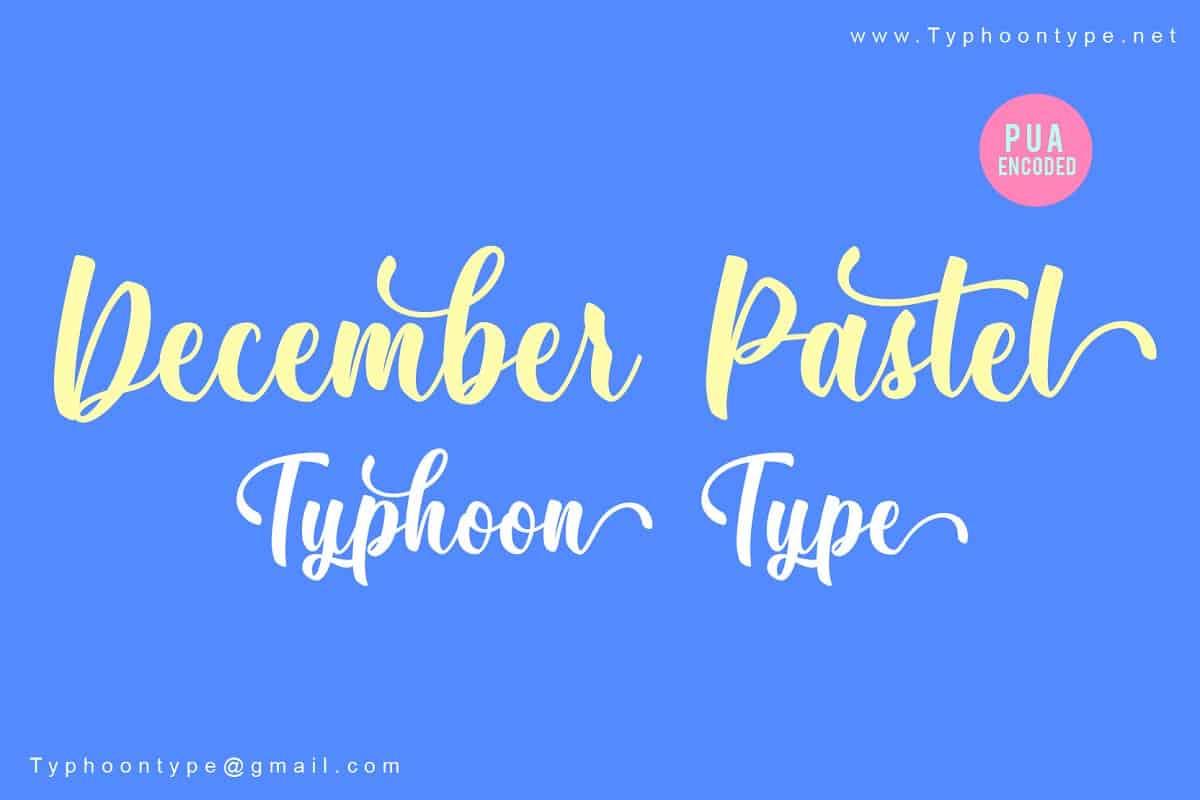 December Pastel шрифт скачать бесплатно