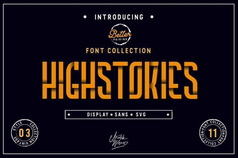 Download Highstories font (typeface)