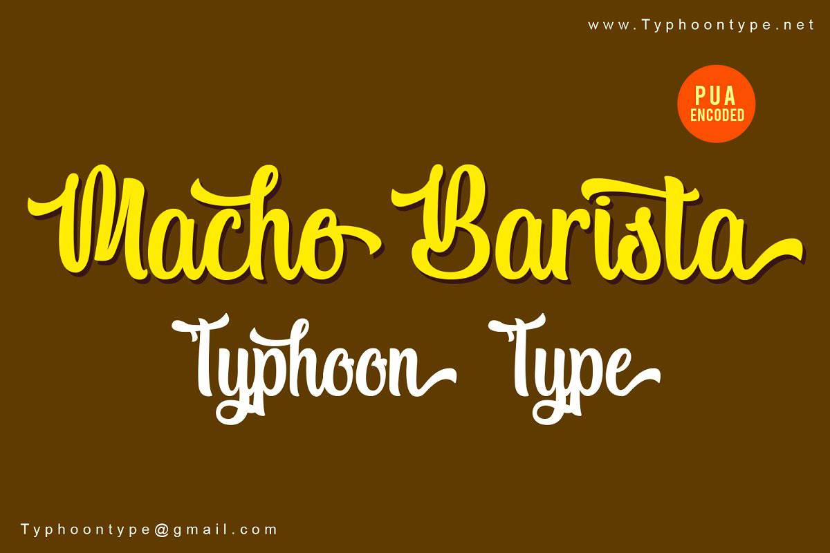Download Macho Barista font (typeface)