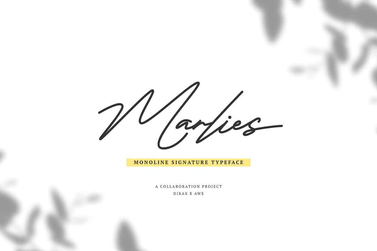 Marlies шрифт скачать бесплатно