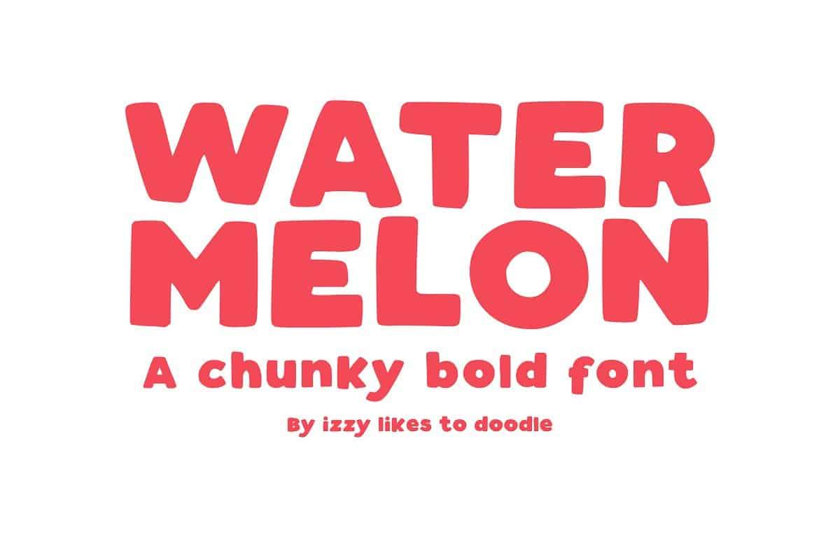 Download Watermelon font (typeface)