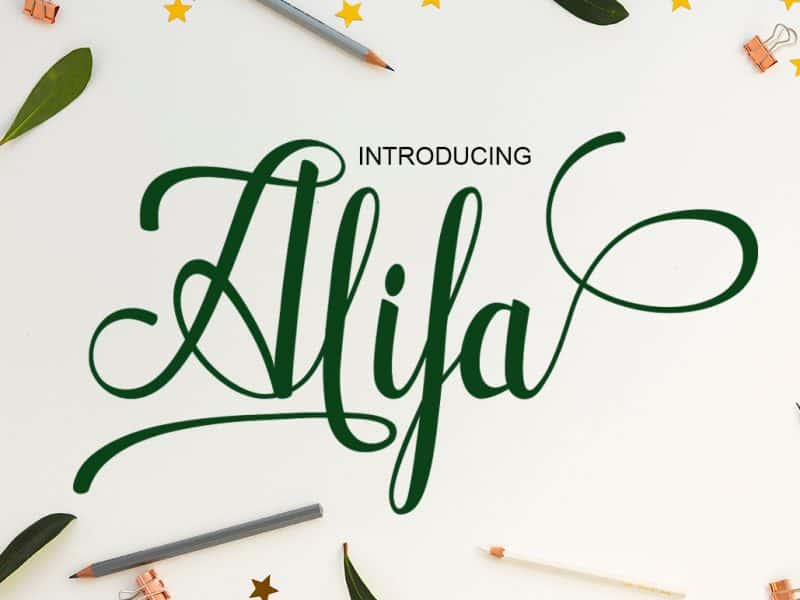 Download Alifa font (typeface)