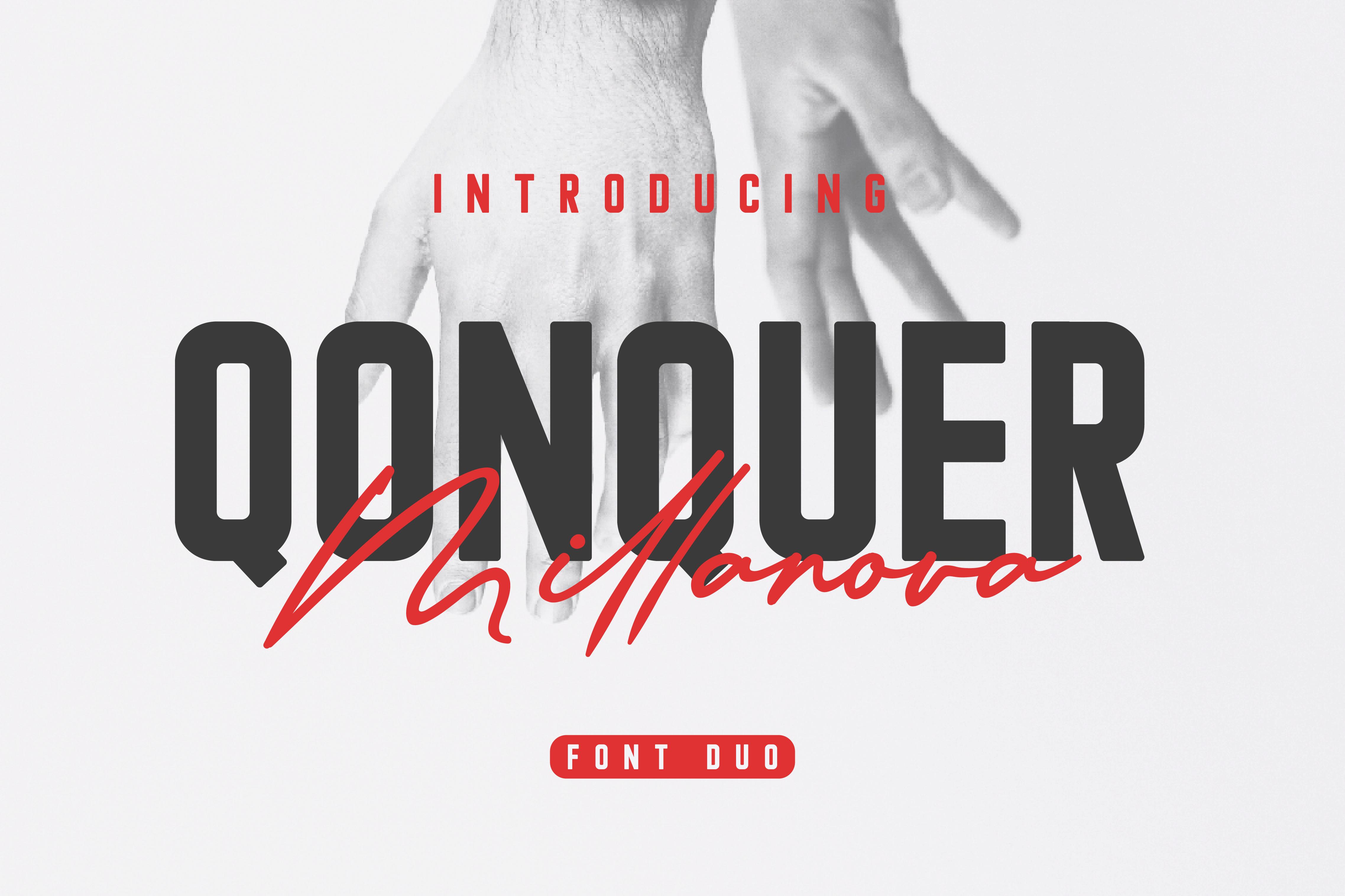 Download Qonquer Millanova font (typeface)