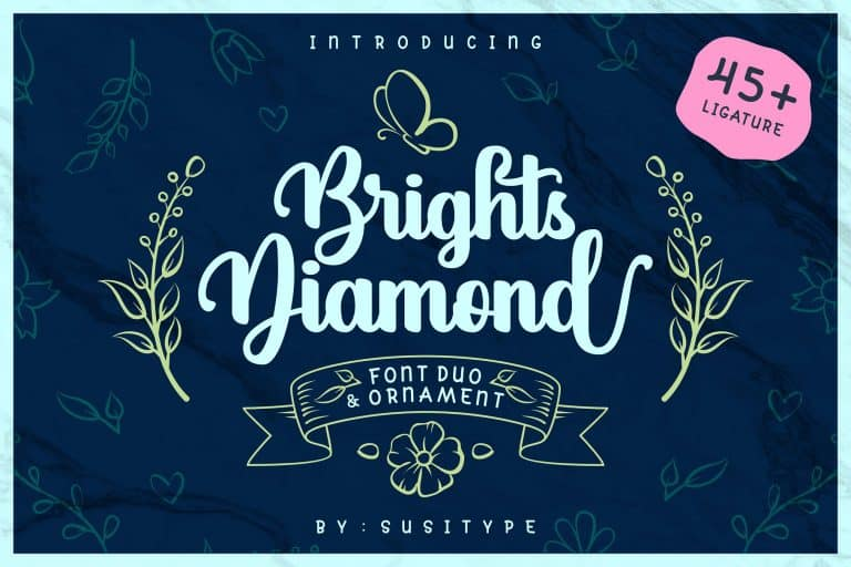 Download Brights Diamond font (typeface)